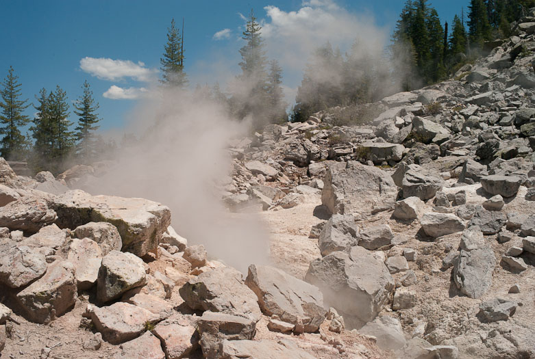 Steaming vent in Devil's Kitchen, Lassen Volcanic National Park