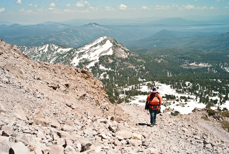 Southwest view from the Lassen Peak Trail, Lassen Volcanic National Park