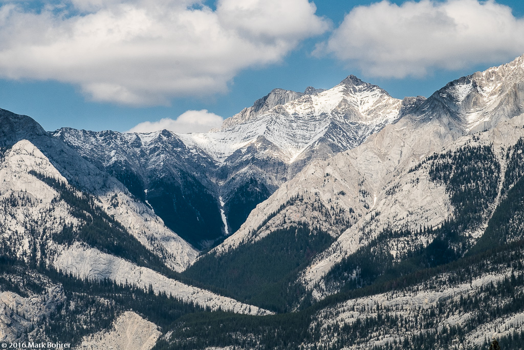Western mountain range, Jasper National Park