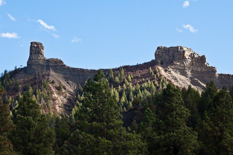 Chimney Rock and Companion Rock, Colorado