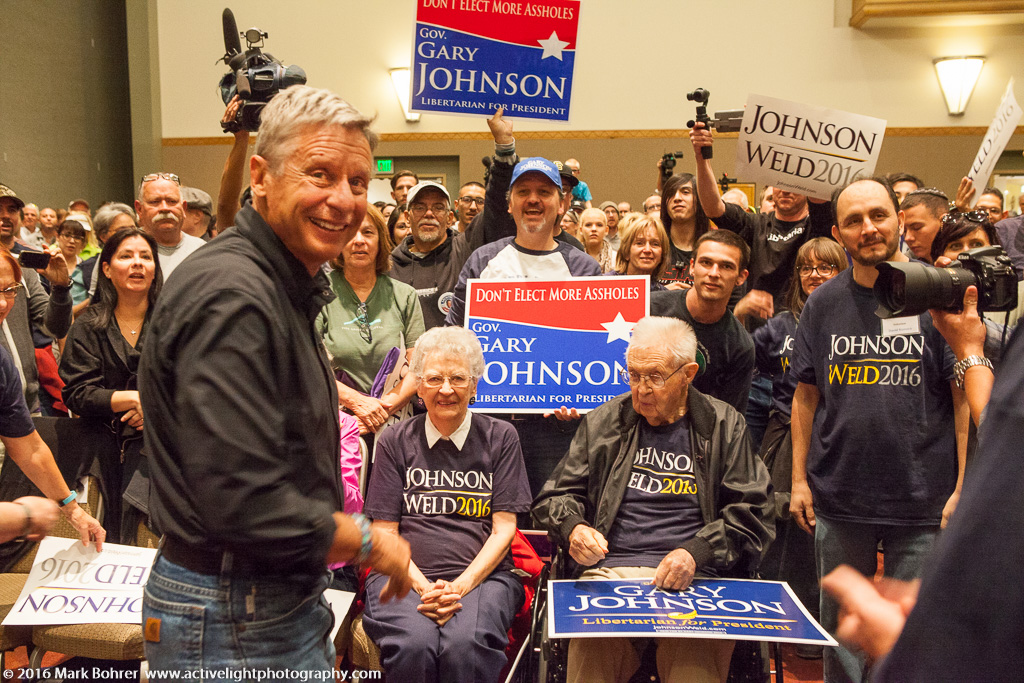 Gary Johnson Rally, UNM, Albuquerque, NM