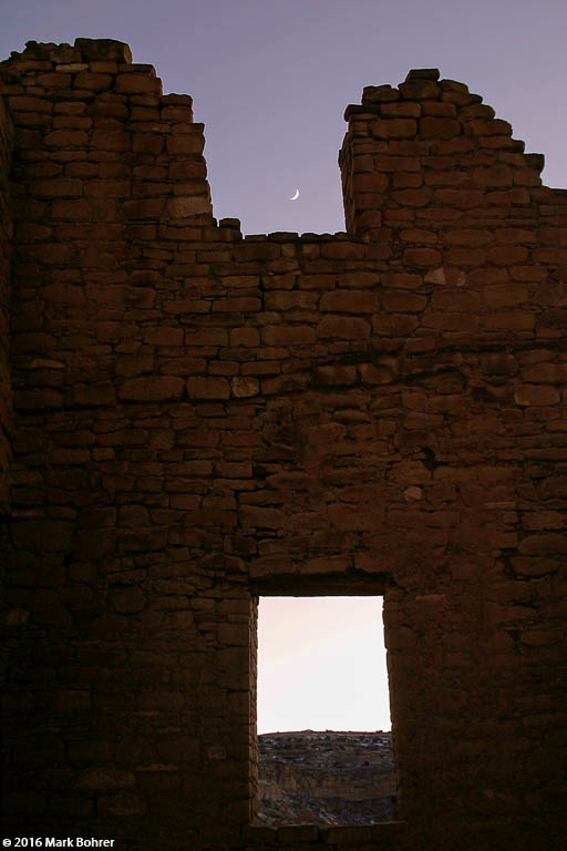 Moonrise, Kin Kletso, Chaco Canyon - Chaco Culture National Historical Park