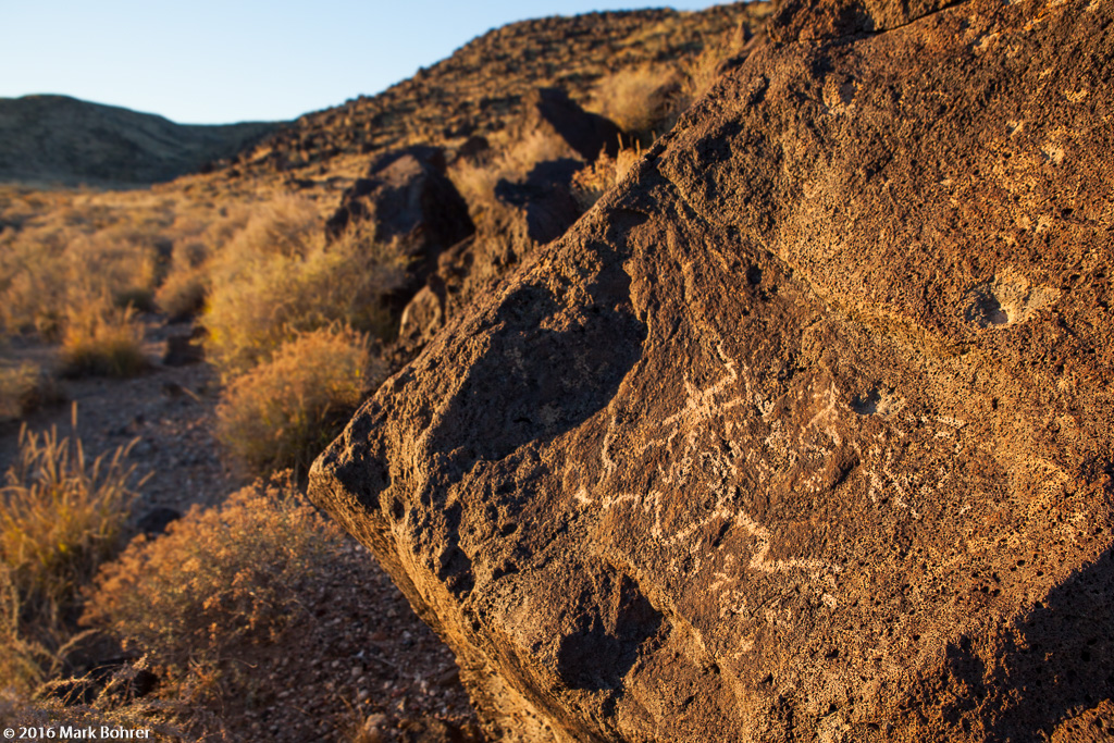 Sunset squiggles, Petroglyph National Monument