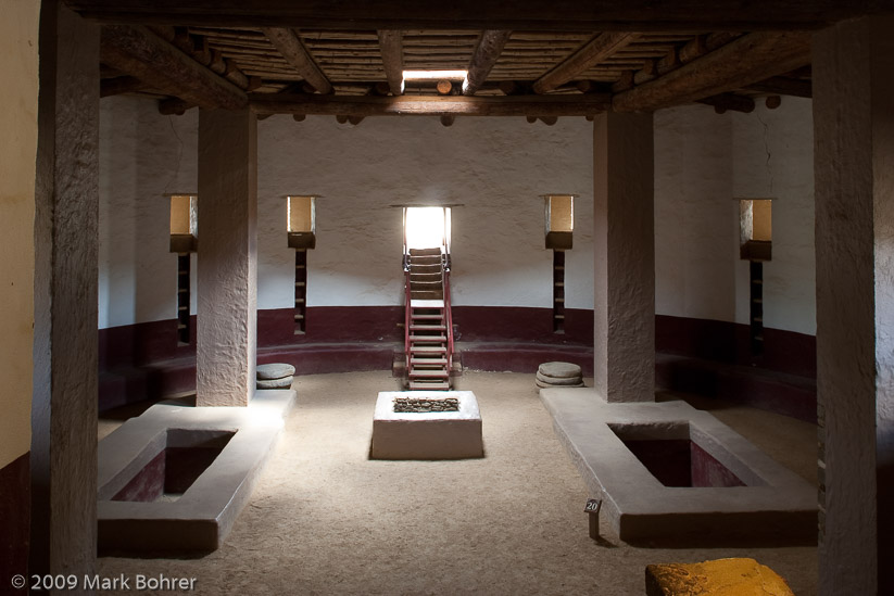 Restored Great Kiva interior, Aztec Ruins National Monument