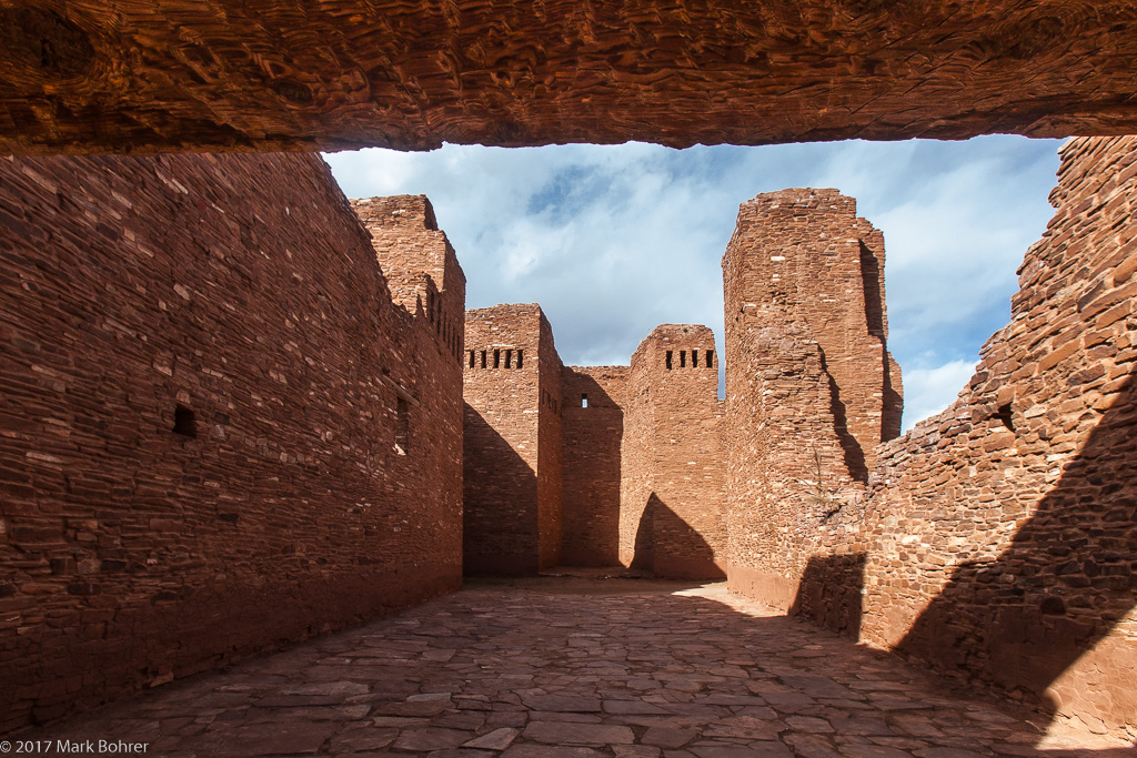 Quarai mission church interior - Salinas Pueblo Missions National Monument