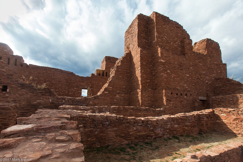 Quarai Mission east side - Salinas Pueblo Missions National Monument