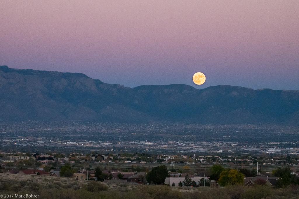 Moonrise after sunset, Mesa Prieta