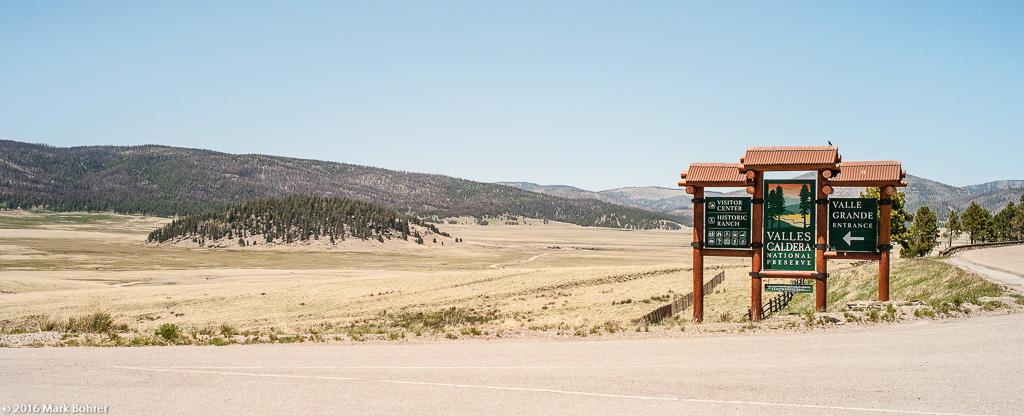 Valles Caldera National Preserve entrance