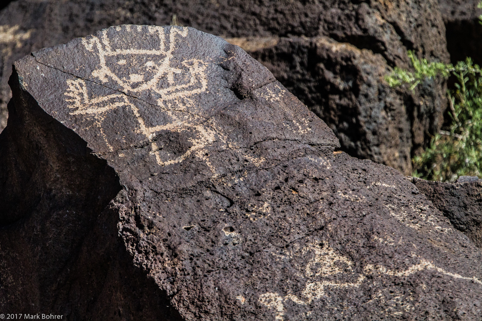 Dancing shaman, Piedras Marcadas Canyon, Petroglyph National Monument