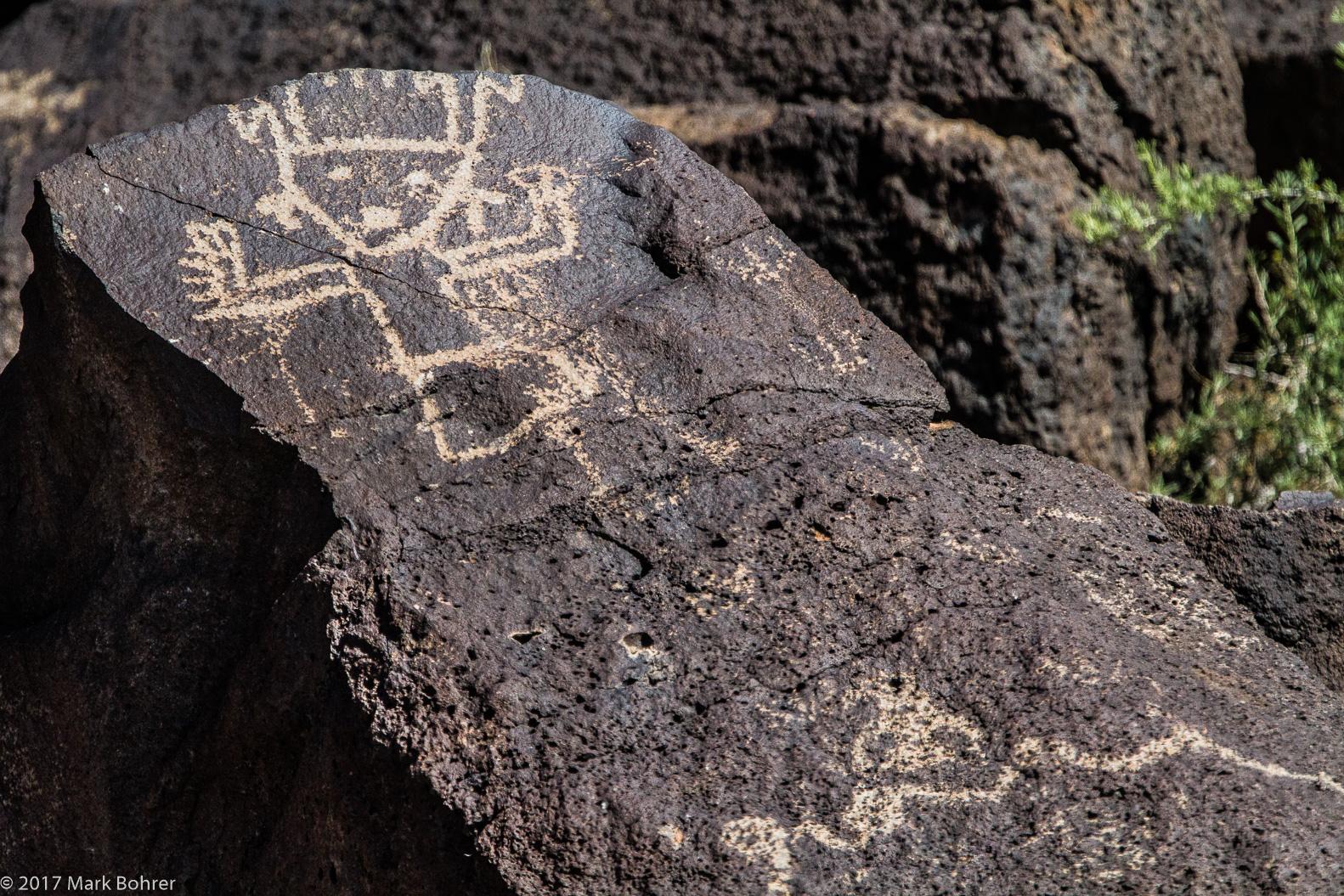 Dancing shaman, Piedras Marcadas Canyon, Petroglyph National Monument