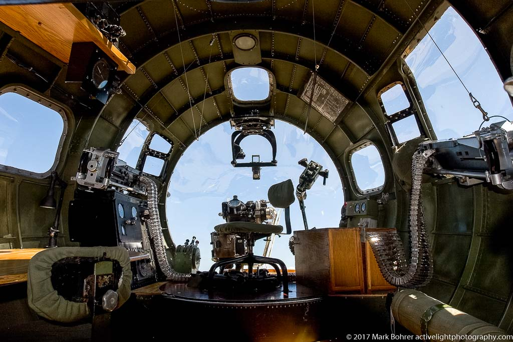 Nose gunner's view, B-17G Flying Fortress