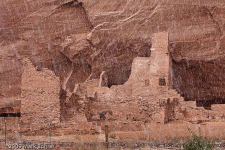 White House Ruin in a snowstorm, Canyon de Chelly