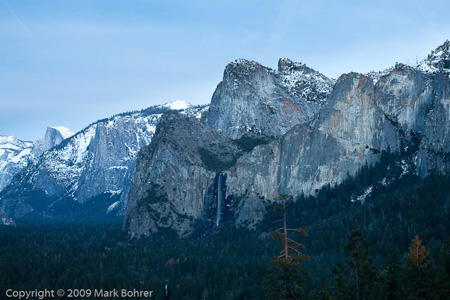 Yosemite Valley south wall, December