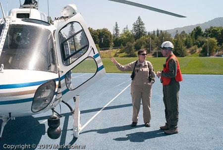 CHP flight officer / paramedic Dawn Hoff and West Valley College professor Kim Aufhauser