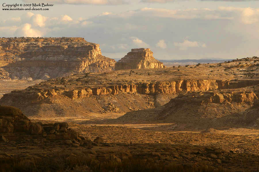 Fajada Butte from near Jackson Stairs, Chaco Canyon