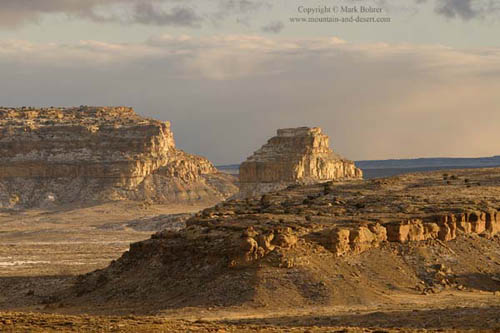 Fajada Butte from North Mesa, Chaco Canyon