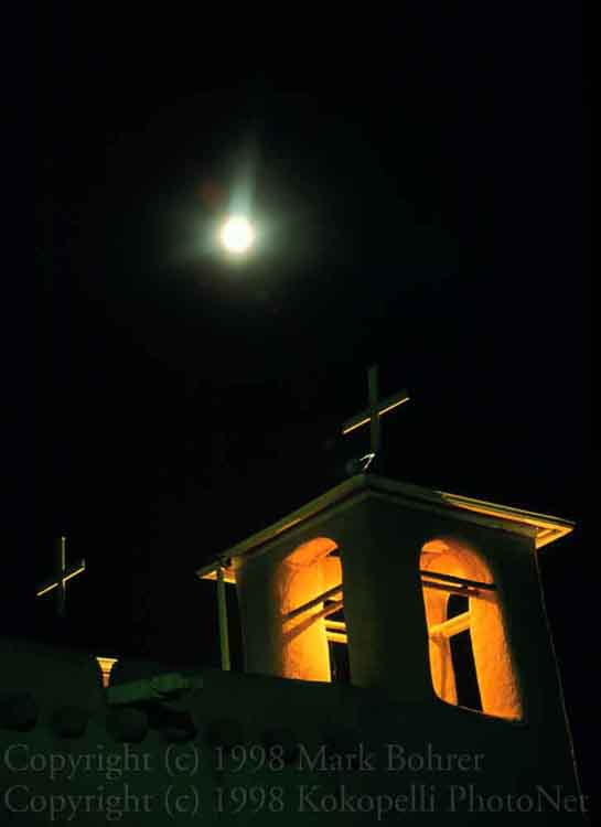 St Francis Church and moon