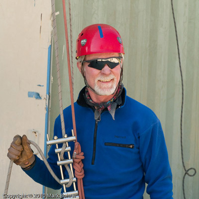 Mark Bohrer with brake/rappel rack