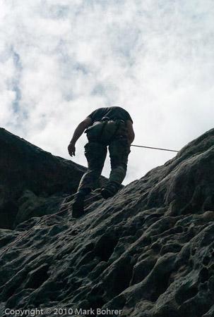 David Aguirre climbing Goat Rock
