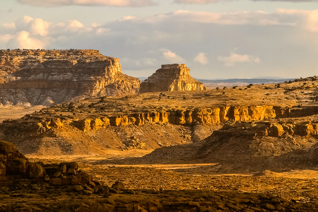Fajada Butte from North Mesa, Chaco Canyon, New Mexico