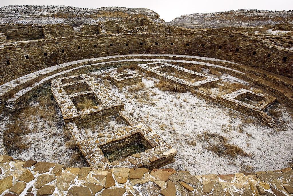 Great Kiva, Pueblo Bonito Ruin, Chaco Canyon