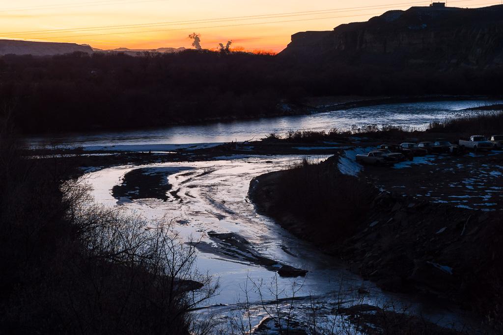 San Juan River near Silver River Adobe Inn Bed & Breakfast, Farmington, New Mexico