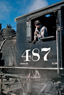 Cumbres & Toltec Scenic Railroad locomotive 487