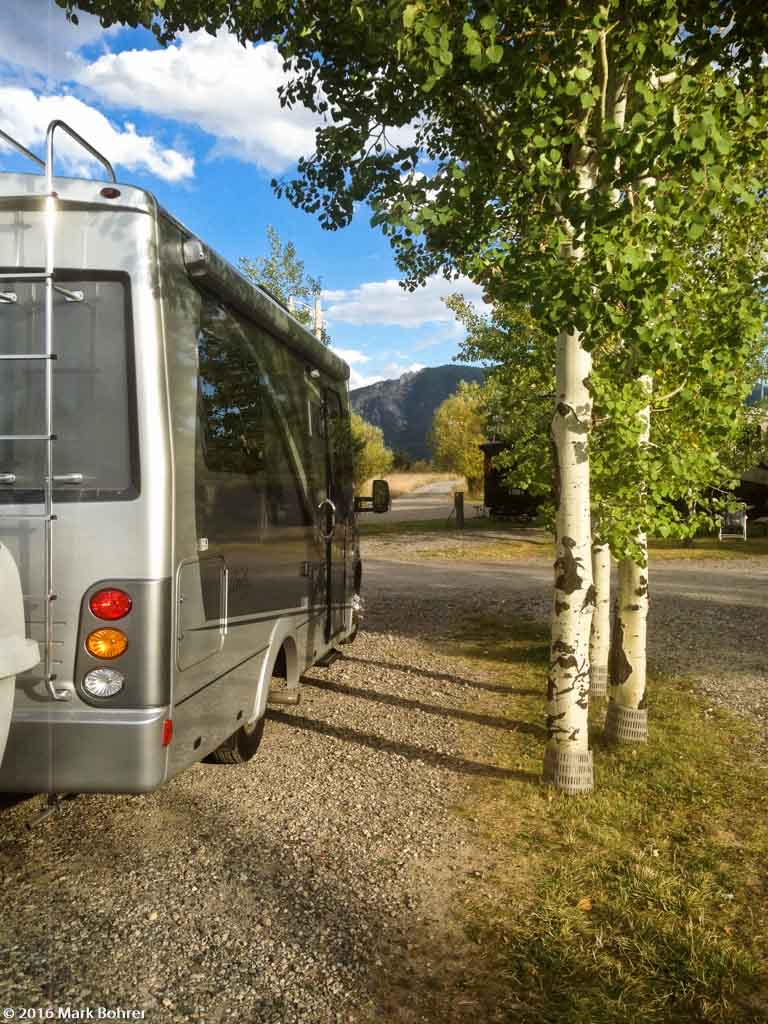 Leisure Travel Unity 24TB RV at Sunrise Campground, Bozeman, Montana