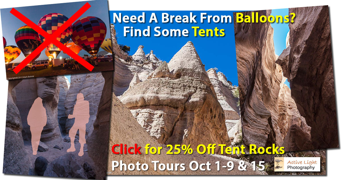 Click for 25% off Tent Rocks Photo Tours - Active Light Photography