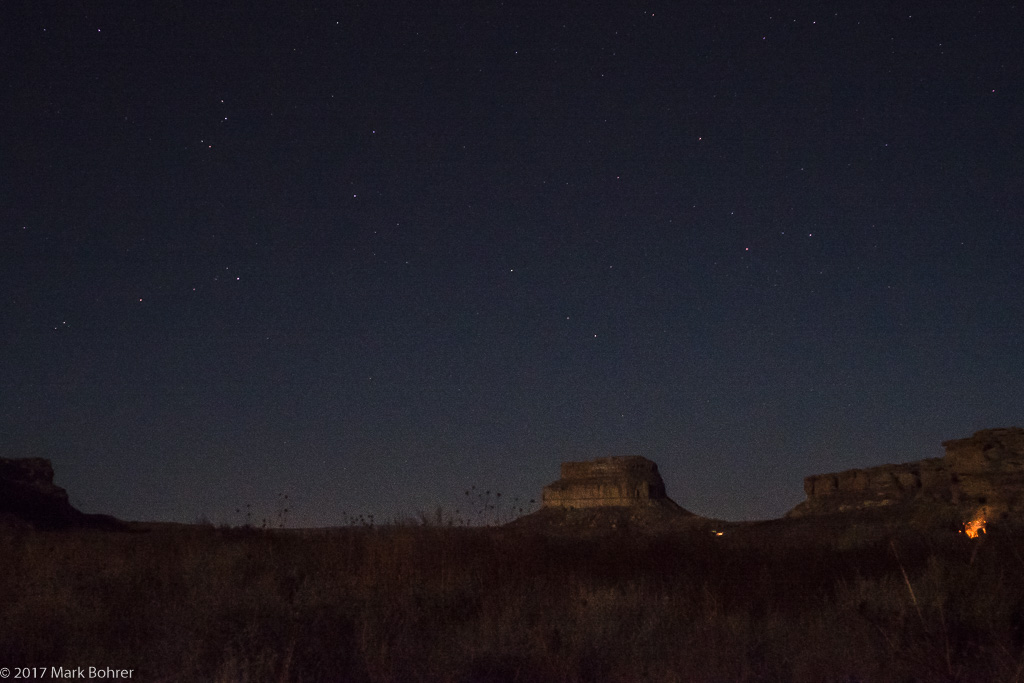 Fajada Butte from Gallo Campground, Chaco Culture National Historical Park, New Mexico