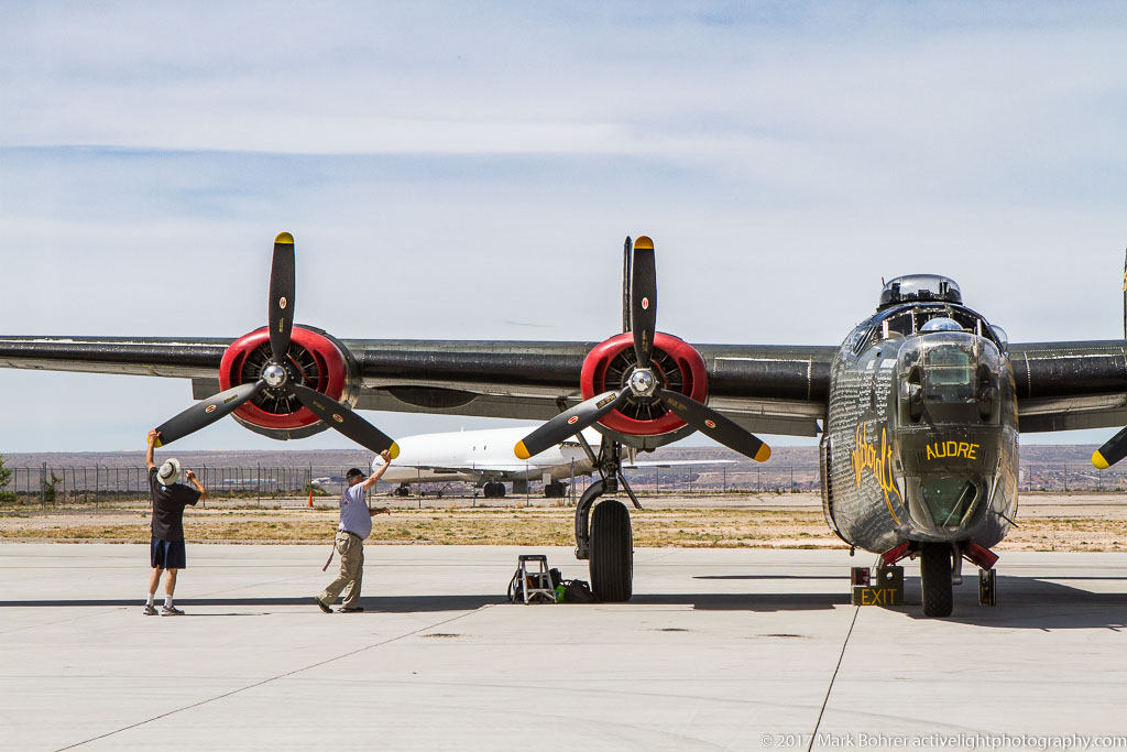 B-24J prop spin / engine check