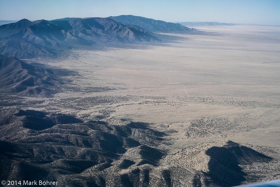 Aerial view east of Albuquerque