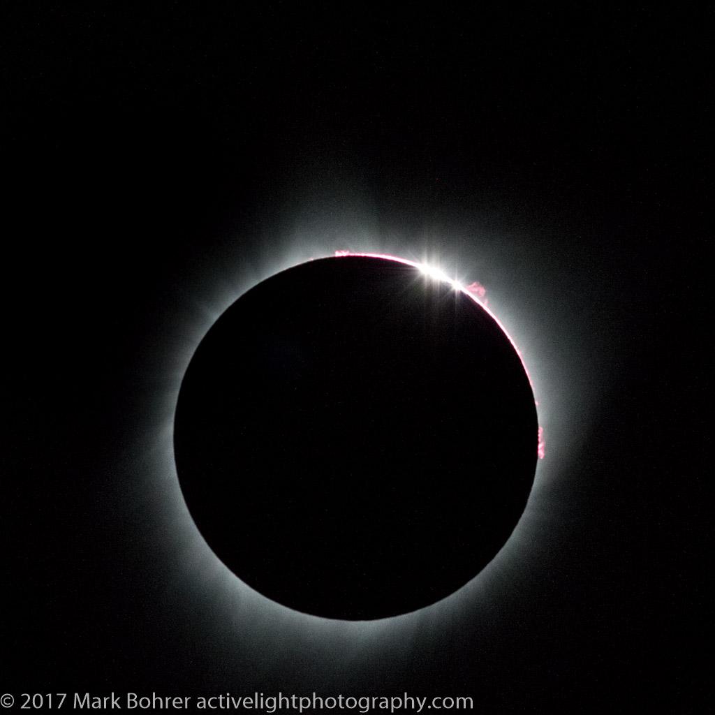 Totality - beginning of the end,  Diamond Ring, Rexburg