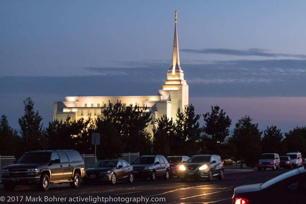 Mormon Temple at sunrise, Rexburg, Idaho