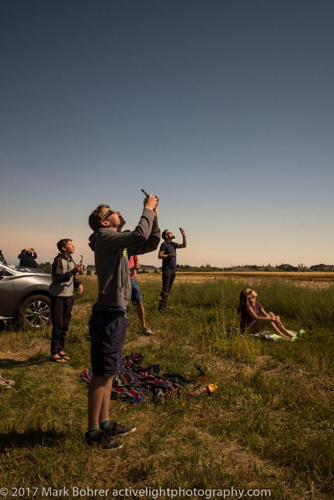 Watching eclipse totality, Rexburg