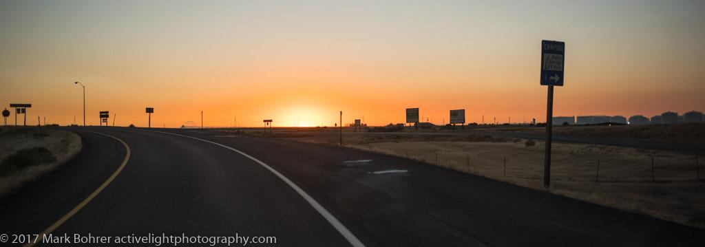 Tank farm sunset - near Batise Springs RV Park, Pocatello, Idaho