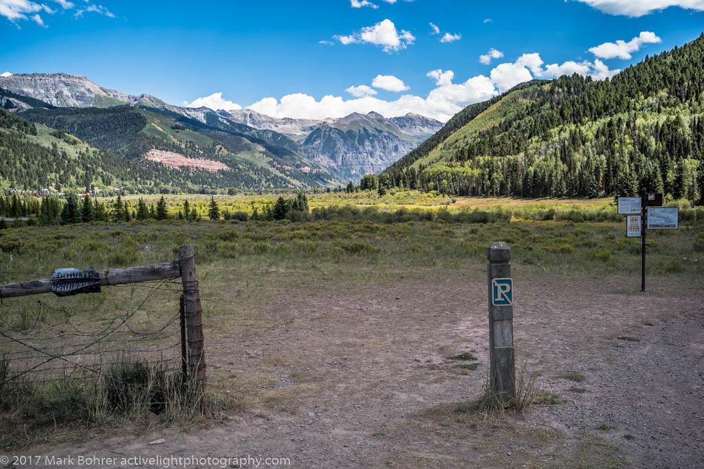 Signs of civilization near Telluride, Colorado