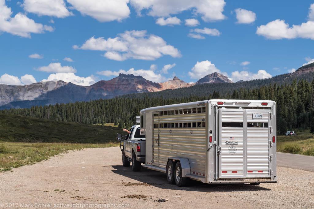 Horsepacker departure, Lizard Head Pass