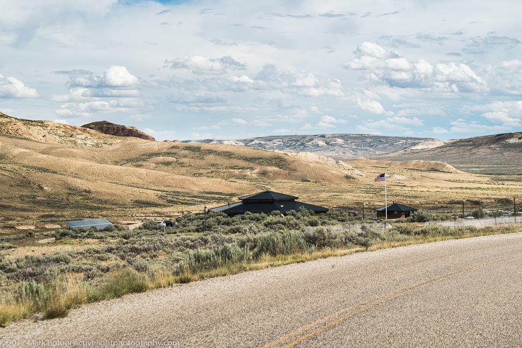 Hidden visitor center, Fossil Butte