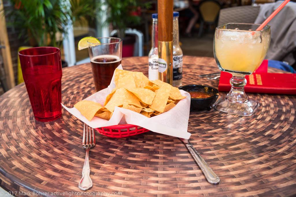 Chips and drinks at Nayarit, Durango