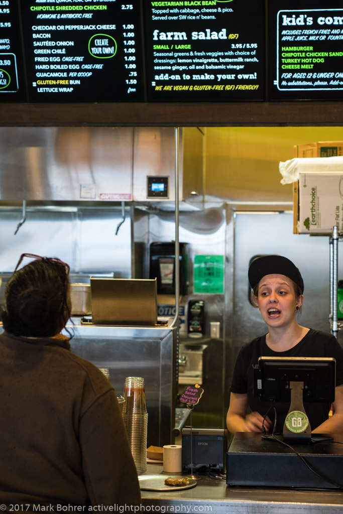 Ordering at GrassBurger, Albuquerque