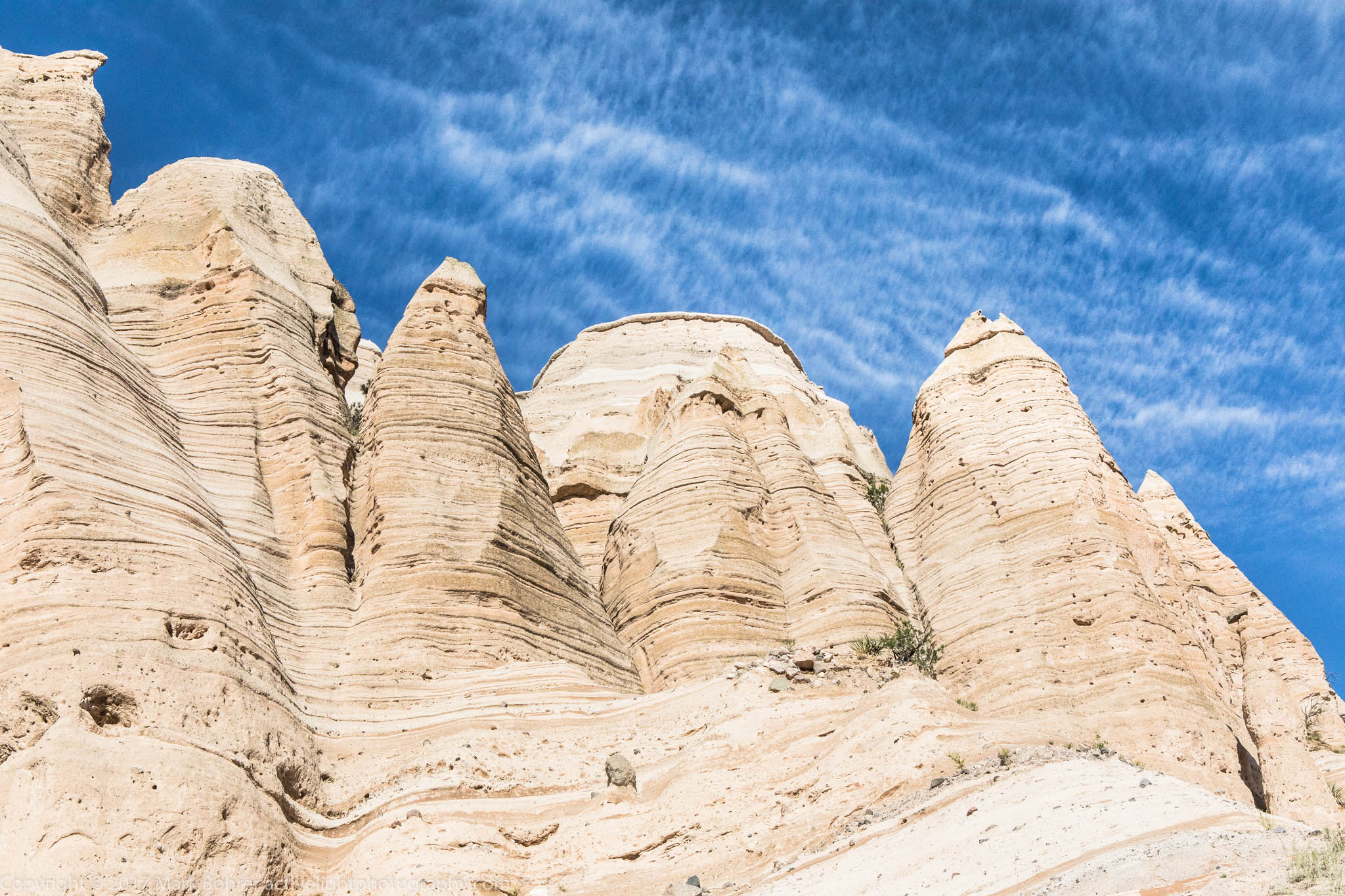 Swirled rock and delicate sky, Kasha-Katuwe Tent Rocks National Monument