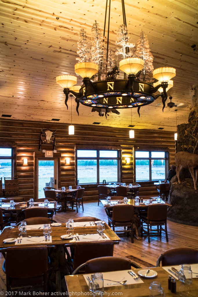 Chandelier and Tables, Bar N Ranch