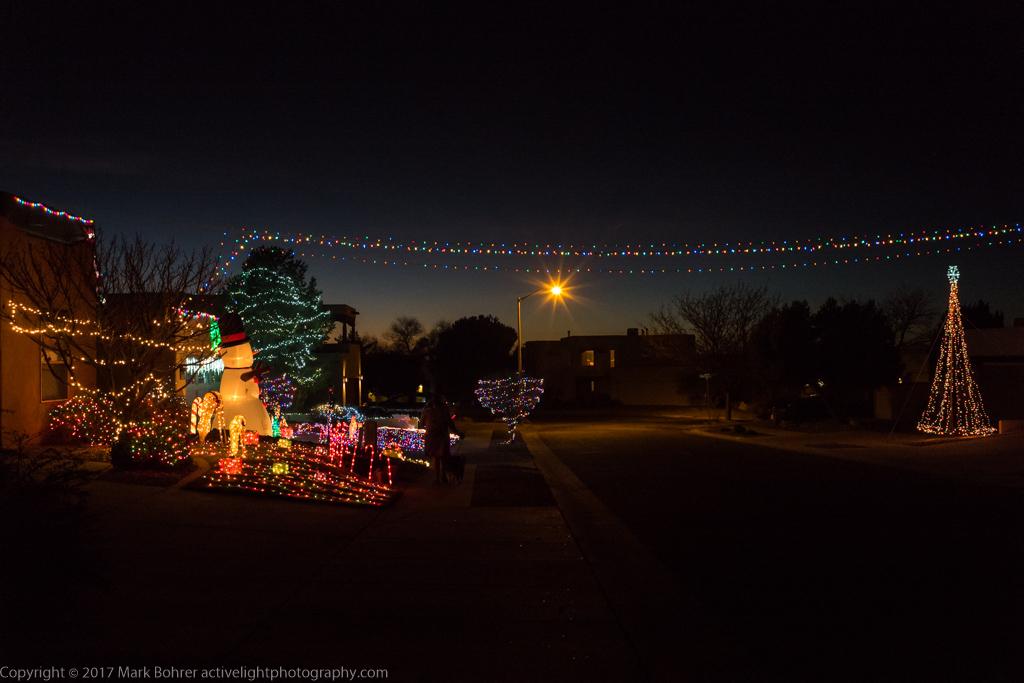 Christmas lights, Albuquerque, New Mexico
