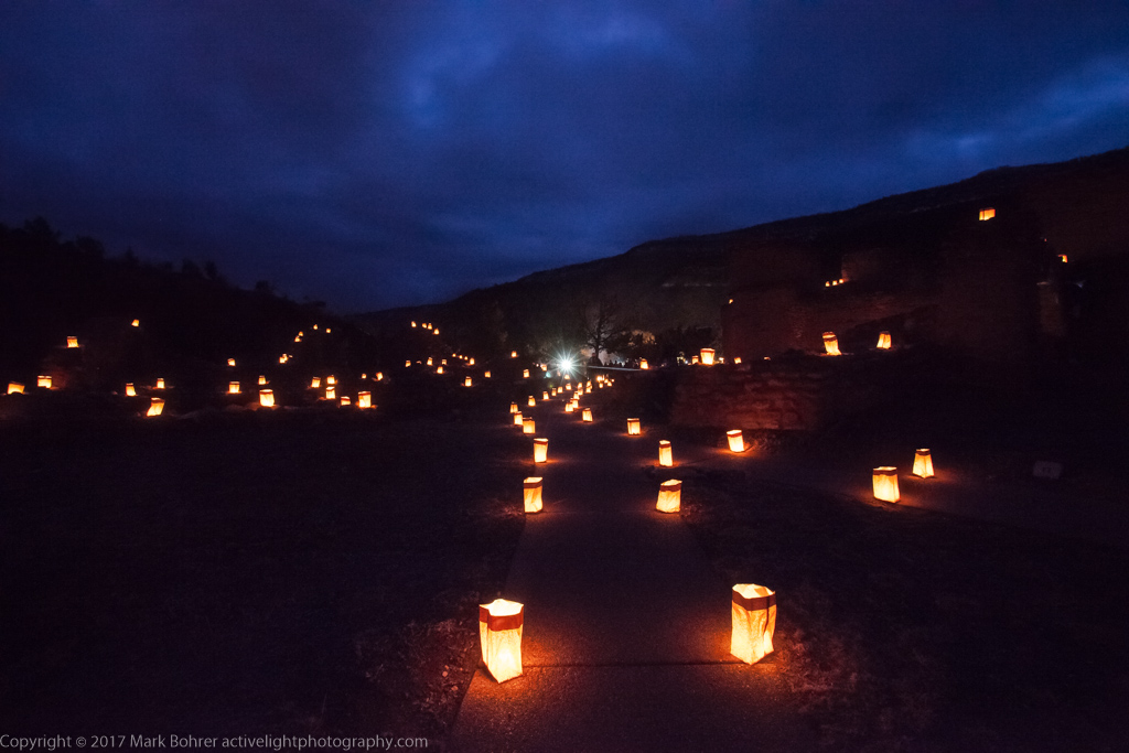 Lights among the Ruins, Jemez Historic Site, New Mexico
