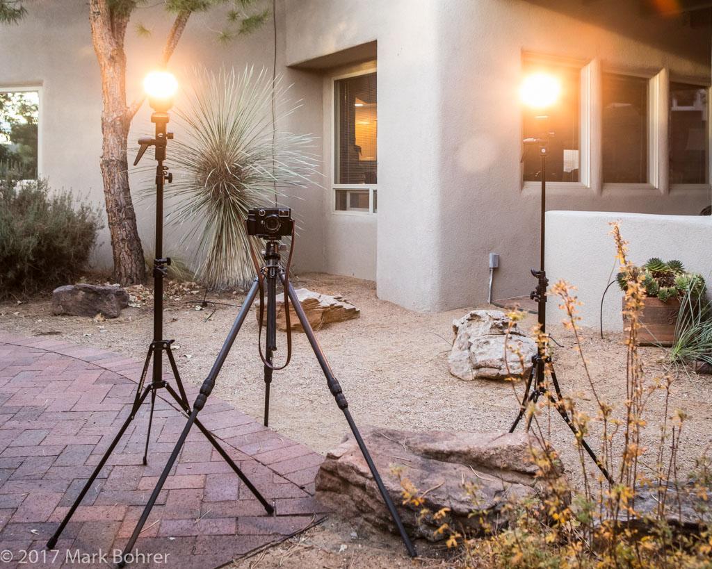 Light and camera setup