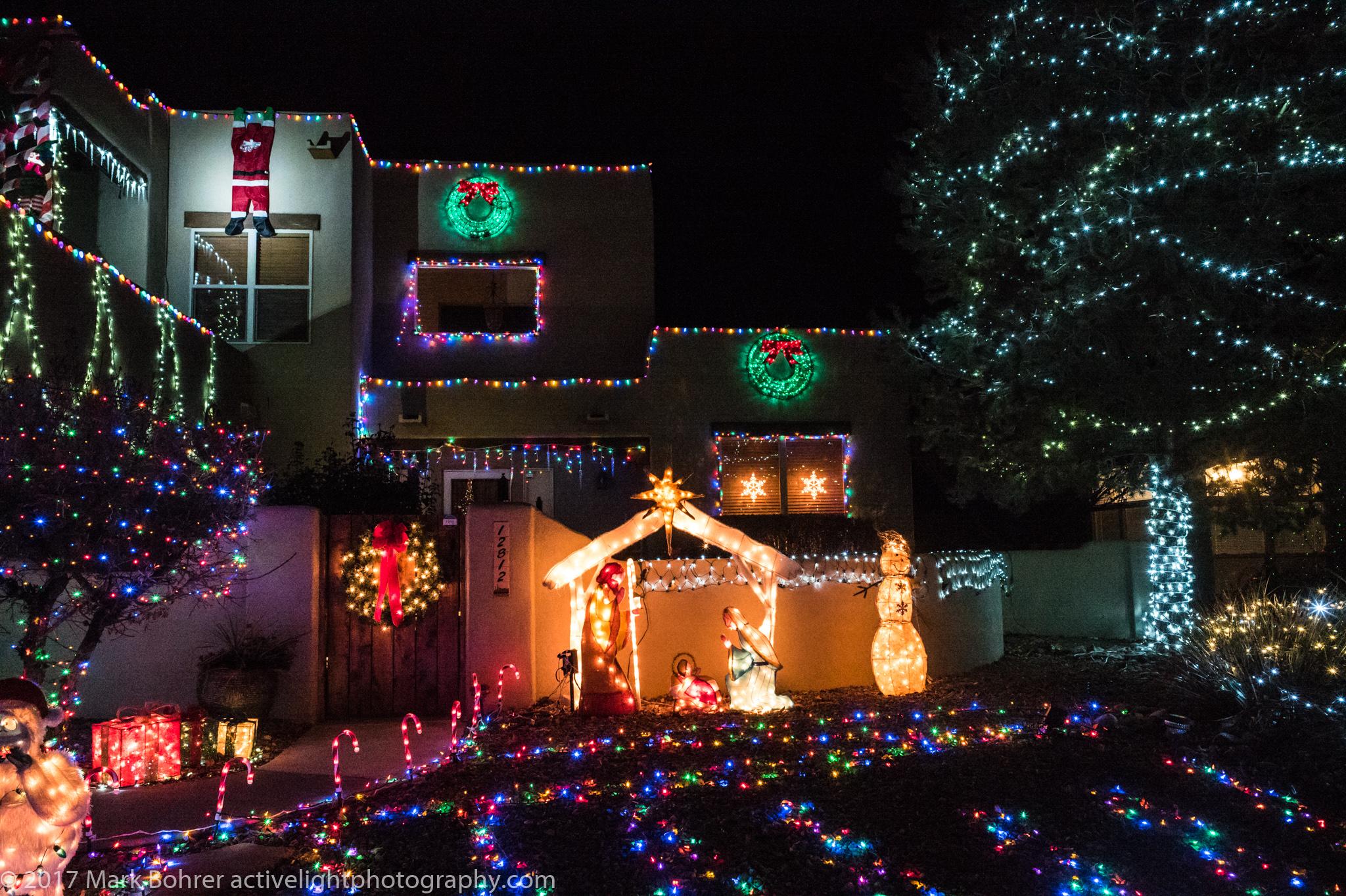 Dangling Santa in the spotlight