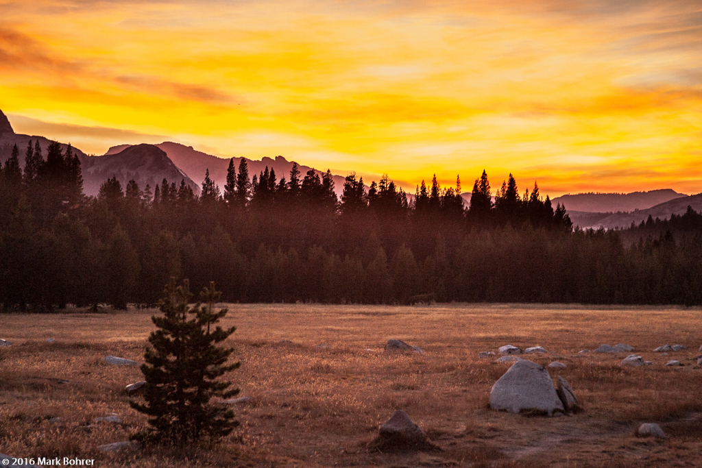 Sunset, Tuolumne Meadows, Yosemite