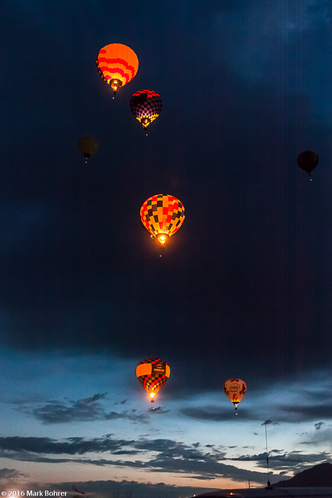 Albuquerque International Balloon Fiesta - Morning glowdeo - exclamation points in the sky