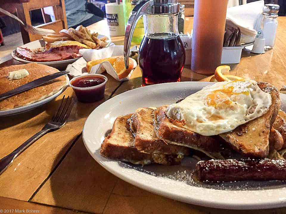 Viva La French Toast and pancakes at Michael's Kitchen, Taos, NM